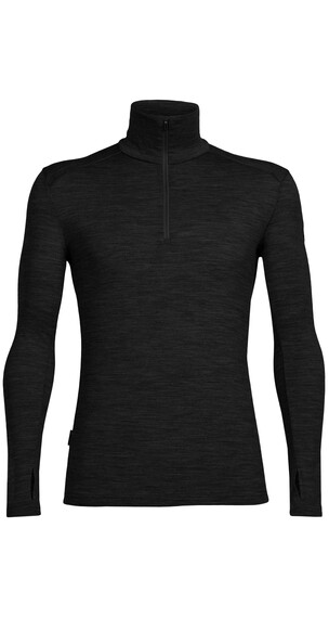 Icebreaker Tech Top LS Half Zip Shirt Men black/black/black